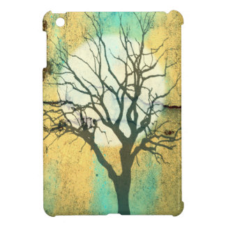 Moon and Tree Landscape in Turquoise Glow Cover For The iPad Mini