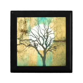 Moon and Tree Landscape in Turquoise Glow Gift Box