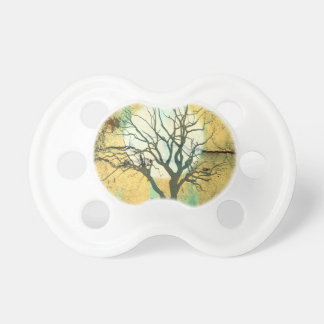 Moon and Tree Landscape in Turquoise Glow Pacifier