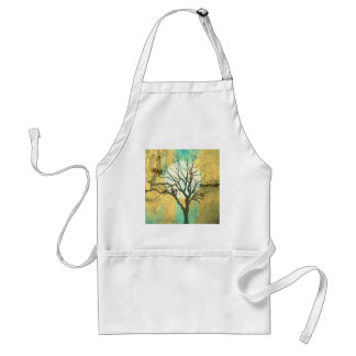 Moon and Tree Landscape in Turquoise Glow Standard Apron