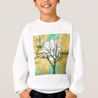 Moon and Tree Landscape in Turquoise Glow Sweatshirt