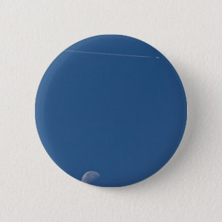 Moon and Vapour Trail Button Badge