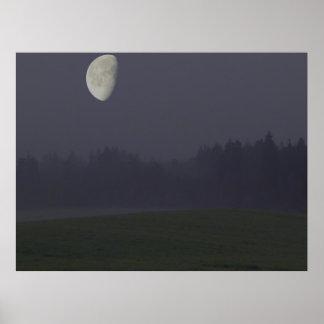 moon at night poster