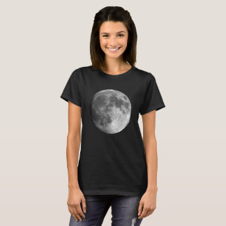 Moon Basic Dark Woman's T-Shirt - Planets