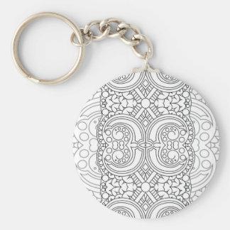 Moon Basic Round Button Keychain