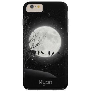 Moon Bath, birds, Winter moon iPhone 6 Plus case