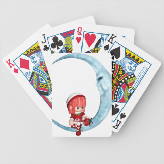 Moon Bicycle Playing Cards
