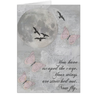Moon Birds Fly Escape Rumi Card