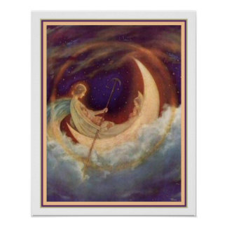 Moon Boat To Dreamland - Hugh Williams 16 x 20 Poster