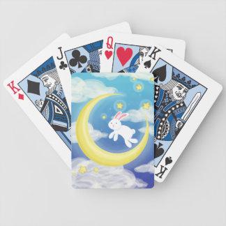 Moon Bunny Blue Poker Deck
