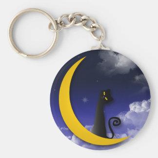 moon cat design keychain