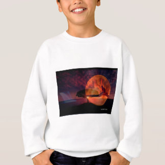 Moon cat meditations. sweatshirt