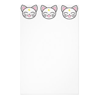 moon cat stationery