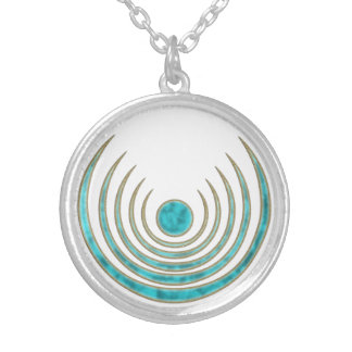 """Moon charm """"Blue Moon"""" - Luna amulet Silver Plated Necklace"""