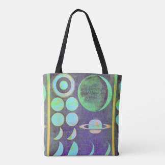 Moon chart tote bag