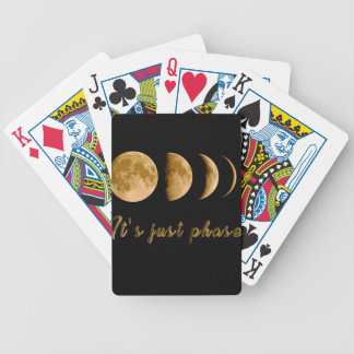 Moon child bicycle playing cards
