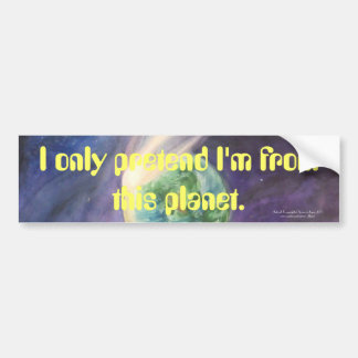 Moon, Comet, Earth, Sun Bumper Sticker