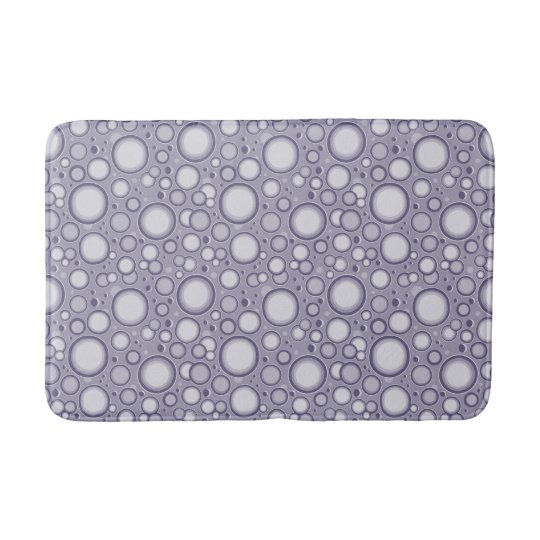 Moon Crater Purple Pattern Bath Mat