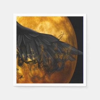 moon crow paper napkins