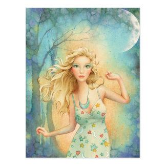 """Moon Dance"" By Scot Howden Postcard"