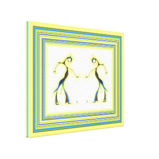 Moon Dancer Pair Abstract, extra small Canvas Print