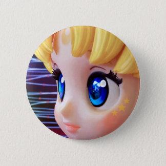 Moon Doll 2 Inch Round Button