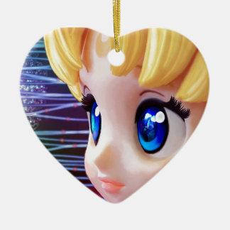 Moon Doll Ceramic Ornament