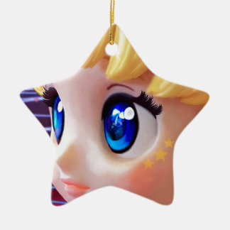 Moon Doll Ceramic Ornament