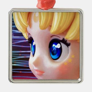 Moon Doll Metal Ornament