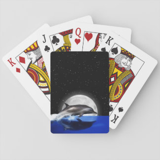 Moon Dolphin Poker Deck