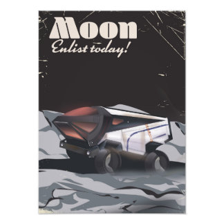 """Moon - """"Enlist Today"""" Sci-fi poster Photo Art"""
