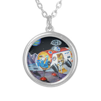 MOON EXPLORER SILVER PLATED NECKLACE