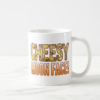 Moon Face Blue Cheesy Coffee Mug