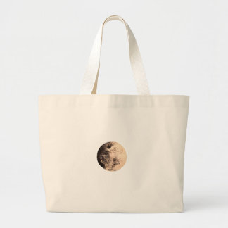 Moon Face Large Tote Bag