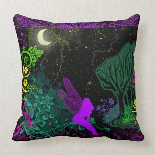 Moon Fairy by Julie Everhart Throw Pillow