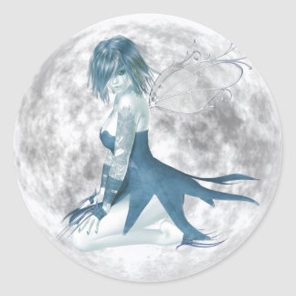 Moon Fairy Round Stickers