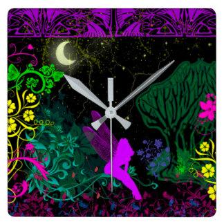 Moon Fairy Wall Clock by Julie Everhart