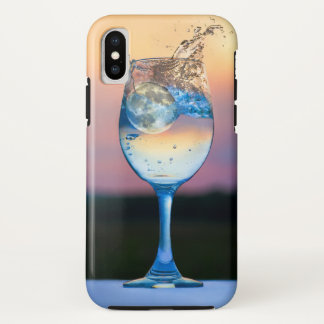 moon falling into wine glass iphone case