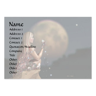 Moon Flower 2 Pack Of Chubby Business Cards