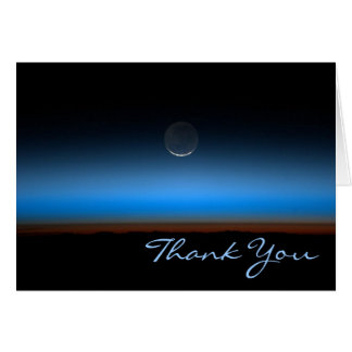 Moon From Space Thank You Note Card