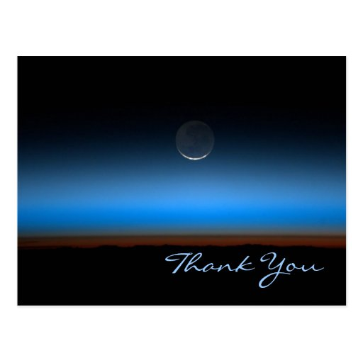 Moon From Space Thank You Postcard
