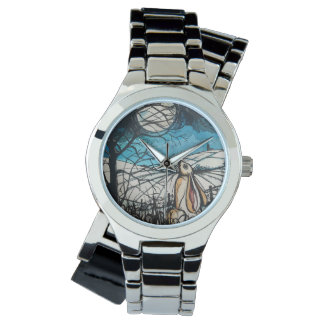Moon Gazer Hare Wrist Watches