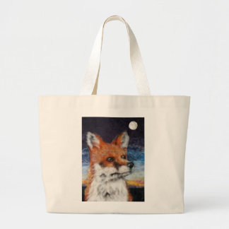 Moon Gazing Fox Jumbo Tote Shopping bag