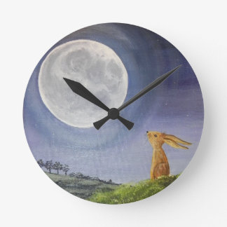 Moon Gazing Hare Clock