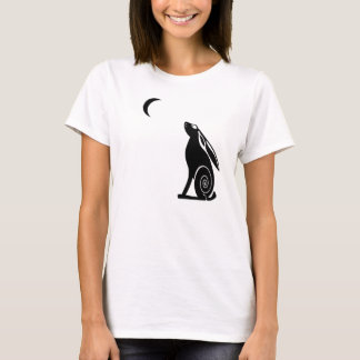 Moon Gazing Hare Ladies Light Tee
