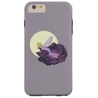 Moon Gazing Purple Flower Fairy Evening Sky Tough iPhone 6 Plus Case