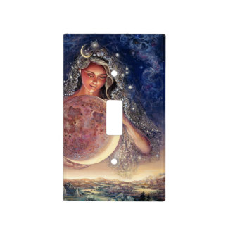 Moon Goddess Light Switch Cover