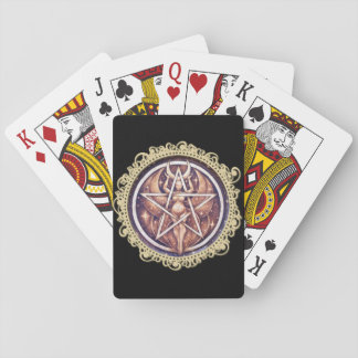 Moon Goddess Pentacle Playing Cards - Black