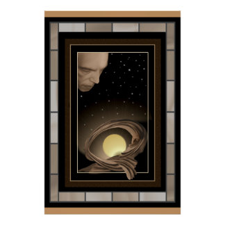 Moon Goddess Sleeps Protected by the StarGod Poster