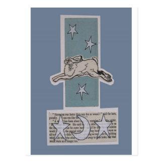 moon hare postcard